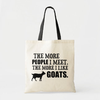 The More I Like Goats Tote Bag