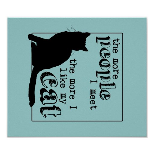 The More I Like My Cat - All Colors Poster
