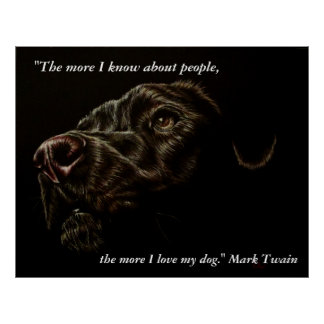 The More I Love My Dog - Black Dog Poster
