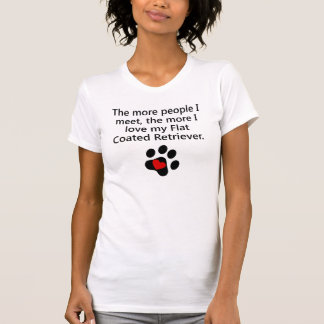 The More I Love My Flat-Coated Retriever Tees
