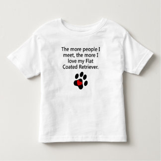 The More I Love My Flat-Coated Retriever T-shirts