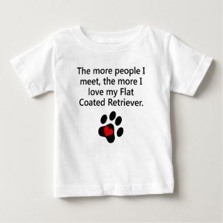 The More I Love My Flat-Coated Retriever T Shirt