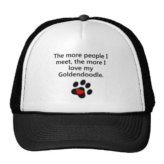 The More I Love My Goldendoodle Cap