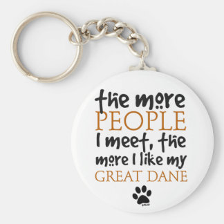The More People I Meet ... Great Dane Key Ring