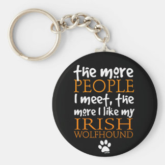 The More People I Meet Irish Wolfhound Key Chain