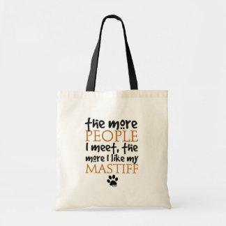 The More People I Meet ... Mastiff Tote Bag