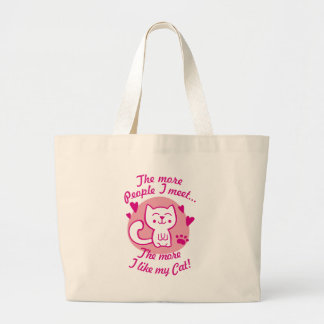 The more people I meet the more I like my Cat Tote Bags