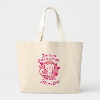 The more people I meet the more I like my Cat Jumbo Tote Bag