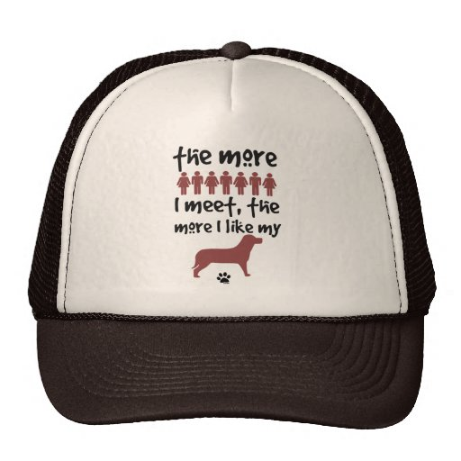 The more people I meet the more I like my dog Mesh Hats