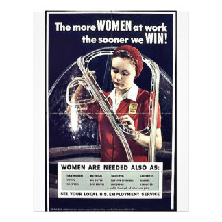 The More Women At Work The Sooner We Win Personalized Flyer