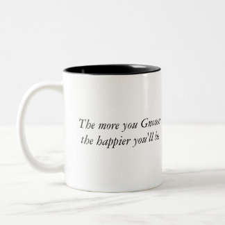 The more you Gnome the happier you'll be (Mug) Two-Tone Coffee Mug