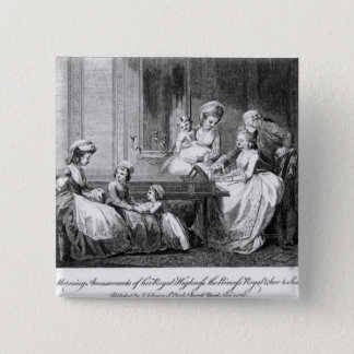 The Morning Amusements of the Royal Family 15 Cm Square Badge