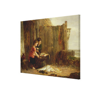 The Morning Catch, 19th century Canvas Print