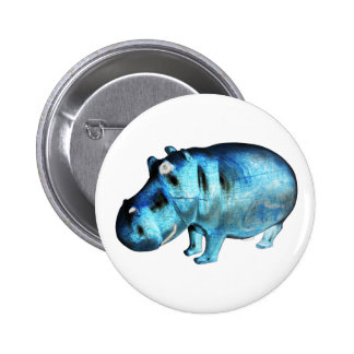 THE MORNING HIPPO 6 CM ROUND BADGE