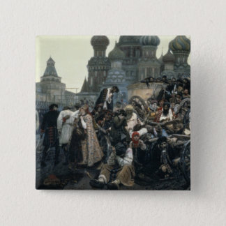 The Morning of the Execution of the Streltsy 15 Cm Square Badge
