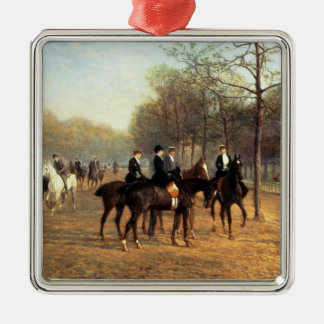 The Morning Ride, Rotten Row, Hyde Park, 1894 (oil Christmas Ornament