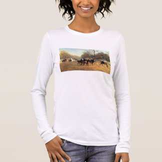 The Morning Ride, Rotten Row, Hyde Park, 1894 (oil Long Sleeve T-Shirt