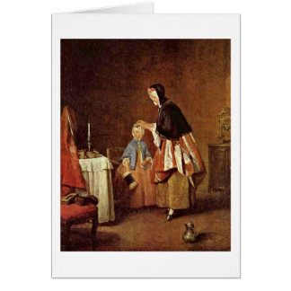 The Morning Toilet By Jean-Baptiste Chardin Greeting Card
