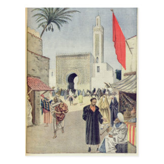 The Moroccan Pavilion at the Universal Exhibition Postcard