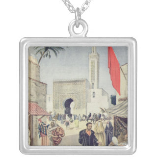 The Moroccan Pavilion at the Universal Exhibition Silver Plated Necklace