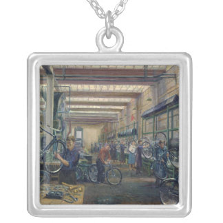 The Moscow Cycle Works, c.1930 Square Pendant Necklace