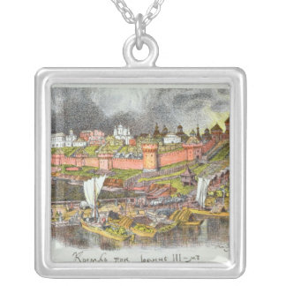 The Moscow Kremlin in the time of Tsar Ivan III Silver Plated Necklace