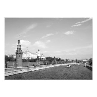 The Moscow River and the Kremlin Embankment Photo Print