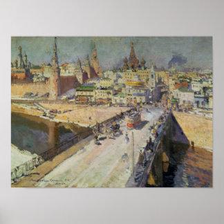 The Moskva River Bridge, 1914 Poster
