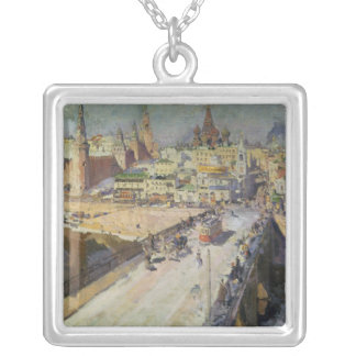 The Moskva River Bridge, 1914 Silver Plated Necklace