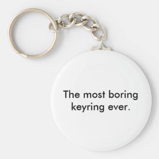 The most boring keyring ever. basic round button key ring