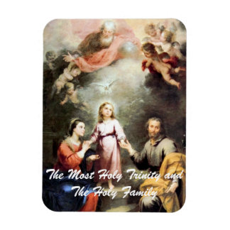 The Most Holy Trinity and The Holy Family Rectangular Photo Magnet