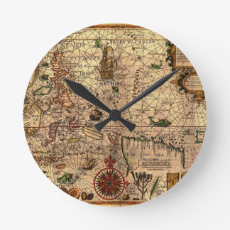 the most important hictoric Southeast Asia Map Round Clock