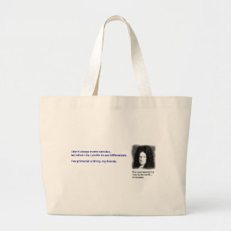 The most interesting man in the world of calculus large tote bag