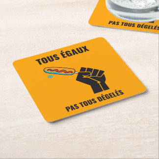 The most not thawed out limps Quebec humour Square Paper Coaster