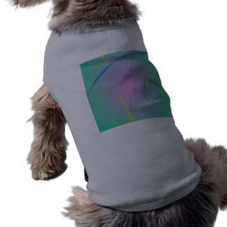 The Most Unique Green Abstract Design Dog T Shirt