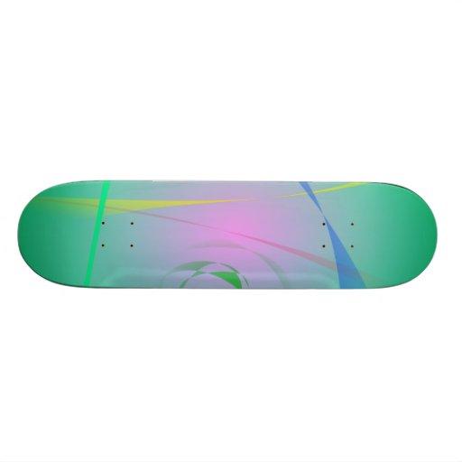 The Most Unique Green Abstract Design Skateboard Decks