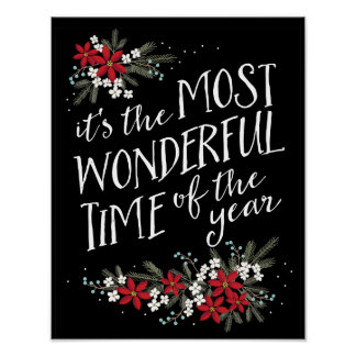 The Most Wonderful Time of the Year Christmas Poster
