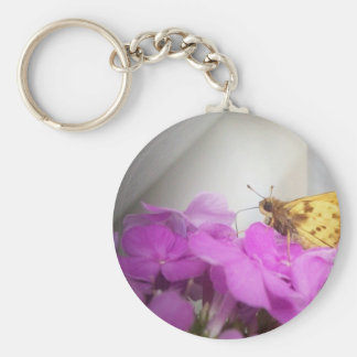 The Moth Basic Round Button Key Ring