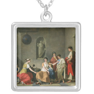 The Mother of the Gracchi, c.1780 Silver Plated Necklace