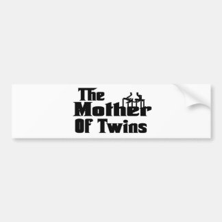 The MOTHER of TWINS Bumper Sticker