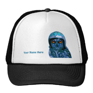 The Moto Owl by Night! (add your name or motto) Cap