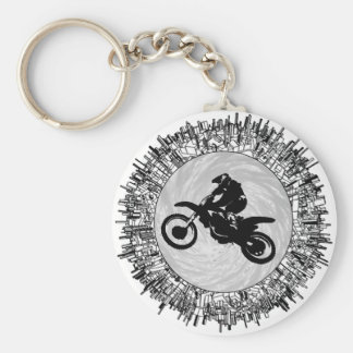 THE MOTOCROSS EFFECT BASIC ROUND BUTTON KEY RING