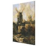 The Moulin de la Galette, Montmartre, 1861 Stretched Canvas Print