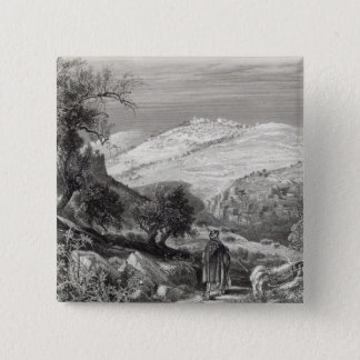 The Mount of Olives, from Mount Zion 15 Cm Square Badge