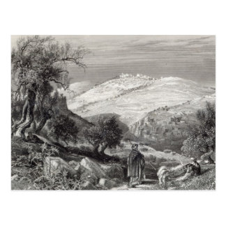 The Mount of Olives, from Mount Zion Postcard