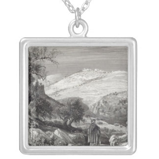 The Mount of Olives, from Mount Zion Silver Plated Necklace
