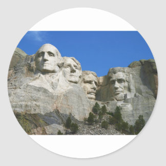 The Mount Rushmore Presidential Monument Round Sticker