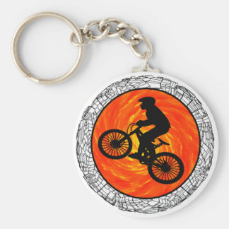 THE MOUNTAIN BIKERS BASIC ROUND BUTTON KEY RING