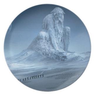 The mountain spirit as melamine plates