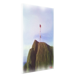 The mountain top canvas print